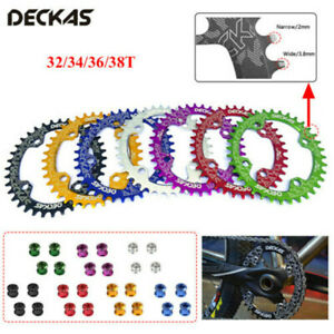 DECKAS-104bcd-MTB-Bike-Round-Oval-Chainring-32-34-36-38T-Narrow-Wide-Chain-ring
