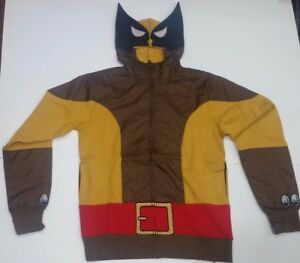 b8bc110e Marvel Comics Wolverine X-Men Logan Costume Hoodie Men's size Small ...
