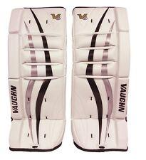 New Vaughn 700 Goal ice hockey leg pads 20 Black/Silver Velocity V6 youth goalie