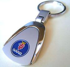 SAAB KEY CHAIN RING FOB 9-3 9-5 9-7X 900 9000 TURBO AERO CHROME NEW