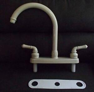 new dura faucet j spout kitchen faucet bisque plastic df