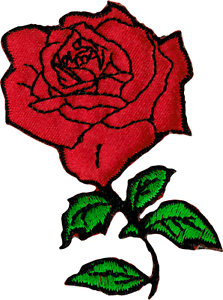 70f46c9c262e83 6284 Red Rose Flower Cutout Romantic Tattoo Biker Embroidered Iron ...