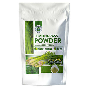 100-Organic-Lemongrass-Powder-Raw-and-Vegan-Herbal-Supplement-200-Grams