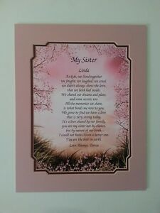 Wedding Day Gift For Sister : ... SISTER POETRY GIFT FOR BIRTHDAY, CHRISTMAS, WEDDING DAY.... eBay