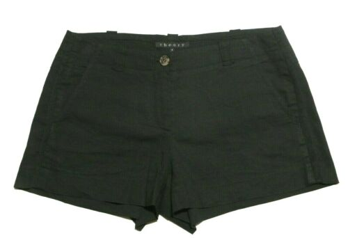 THEORY  Women's Tailored Linen Blend Unlined Shor… - image 1