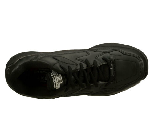 77032 Hombre Zapato Viscoelástica Espuma Skechers Negro Trabajo Ew Ancho 8HxR4q8r