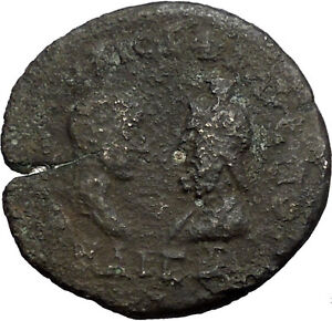 PHILIP-II-Roman-Caesar-amp-Serapis-244AD-Ancient-Roman-Mesembria-Coin-i30778