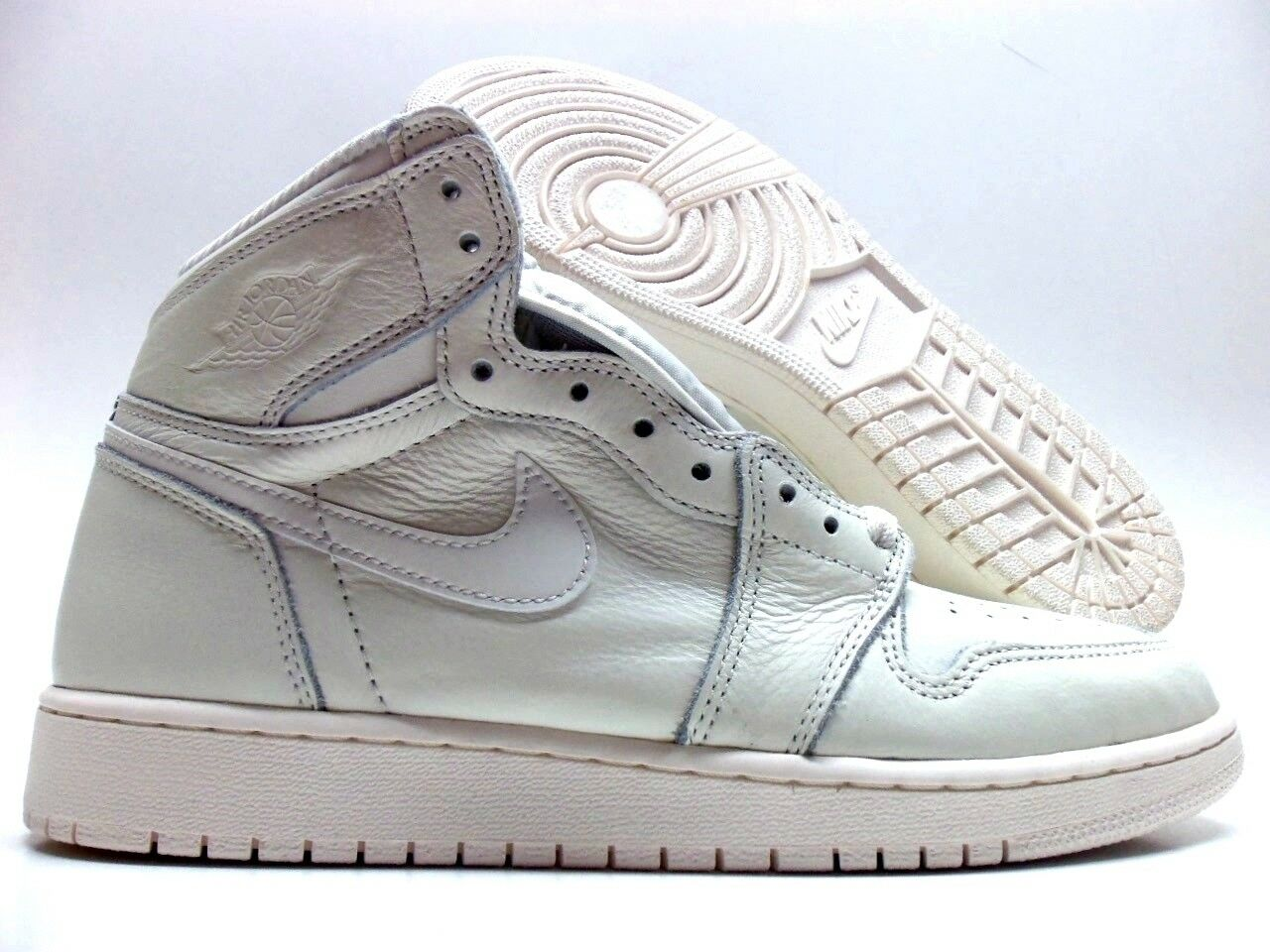 NIKE AIR JORDAN 1 RETRO HIGH OG BG SAIL UNI RED SIZE 7Y WOMEN'S 8.5 [575441-114]