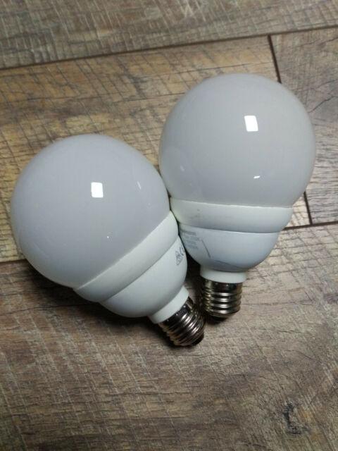 2 Paulmann Energiesparlampen Globe 11W + 15W E27 Warmweiß 90mm