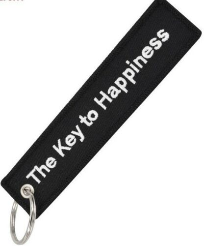 THE KEY TO HAPPINESS KEY RING.GREAT VALUE PRINTED BOTH SIDES.