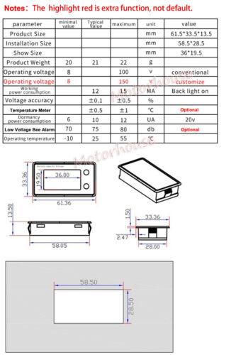 Universal Lead Acid Lithium Li-ion Battery Pack Capacity Voltage Meter Indicator