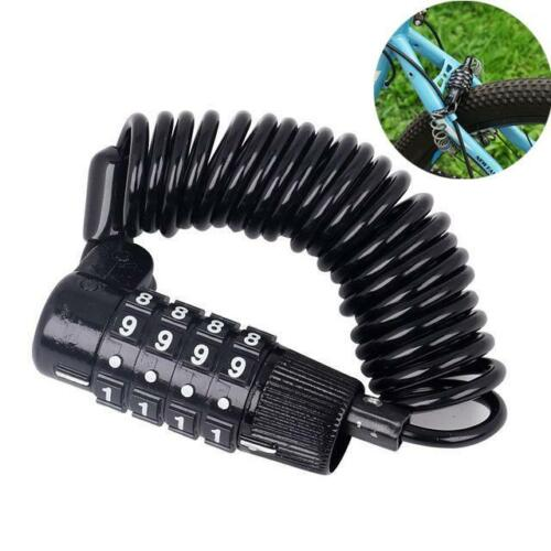 4 Digits Combination Bike Codes Lock Changeable Bicycle Password Security Cable