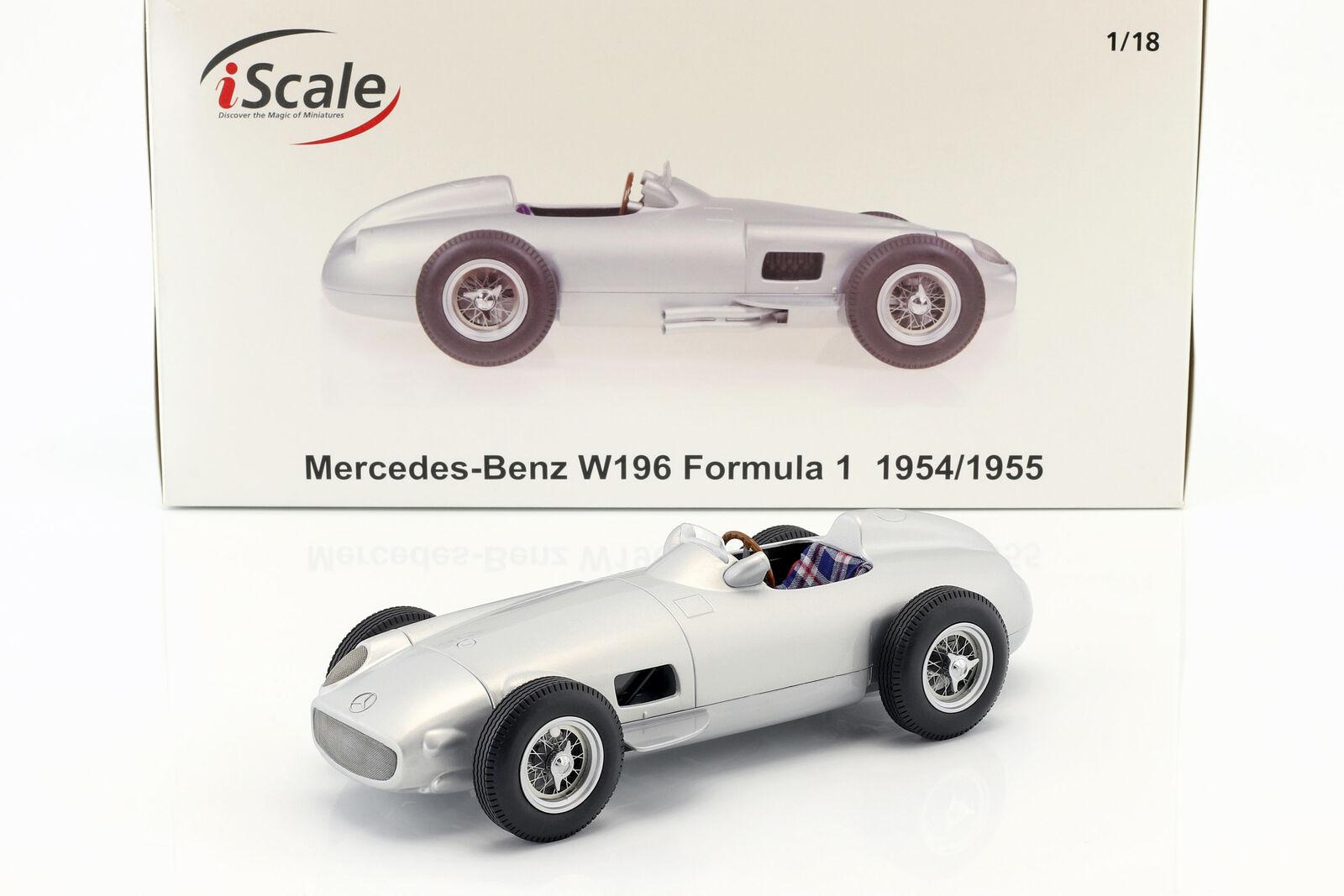 Mercedes-benz w196 Plain body Edition fórmula 1 1954 1955 1 18 iscale