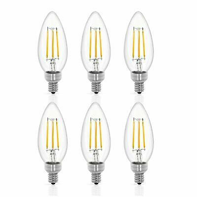 LED Smart WiFi E12 Light Bulbs Candelabra, 5W Color Changing Bulb, Dimmable RGB Candle Light Bulb Decorative, Smart Chandelier Lighting Work with