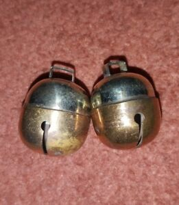 Falconry-Dog-Cat-Bells-Two-Tensile-Acorn-Bell-Pair-Brass-amp-Silver-Great-Sound