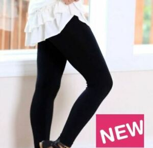 Plus Size Solid Black Leggings Fit Sizes 12-20 Nwt