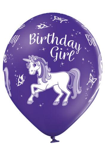 Premium Ballons 6-er Set Geburtstag Einhorn 30 cm Luftballon Birthday Unicorn