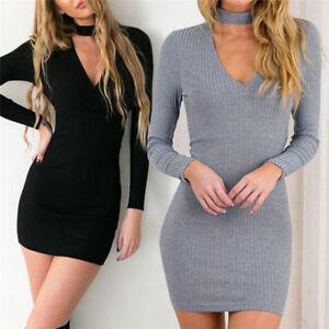 Femme-tricot-robe-longue-manche-sexy-crayon-tricote-robe-Slim-pull-ITRFR