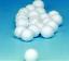 Bohrung verschiedene Größen weiß für Schneemann Kette Wattekugeln mit Loch