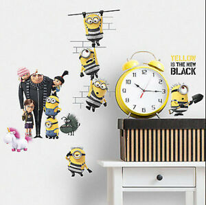 Minion Wall Decor despicable me 3 movie wall stickers 17 decals minion agnus margo