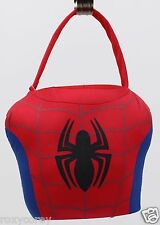 Easter Halloween Marvel Ultimate Spider-Man Red Plush Tote Basket NWT