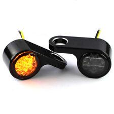 IOMP  LED Blinker E-gepr Silber Blinkerhalter Lenker Armaturen HD universal