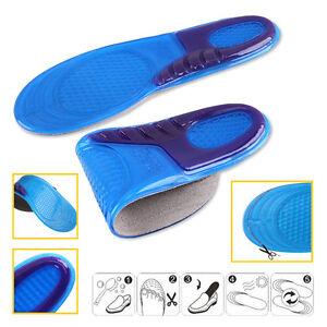 2X-Fussbett-Gel-Silikon-EinlegesohleOrthopaedische-Schuh-Einlagen-Shoe-Insert-H3O1