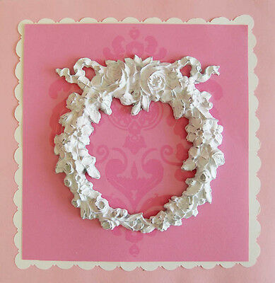 BEST PRICE Shabby Cottage Chic Furniture Floral Appliques LARGE Wreath GORGEOUS