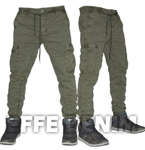 Pantaloni Uomo Cargo Tasconi Laterali Slim elasticizzati multitasche Jeans 8243
