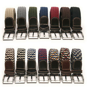 Elastic-Cotton-Stretch-Braided-Belt-17-Color-Free-P-amp-P