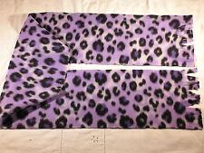 Purple Leopard Skin Fleece Scarf