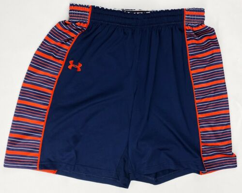 Under Armour Basketball Practice Short Auburn Syracuse Women/'s Large Navy Orange