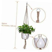 4 Pieces Plant Hanger Flower Pot Plant Holder With Key Ring For Indoor Outdoor