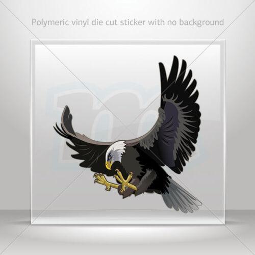 Sticker Decals Bald Eagle left Atv Bike Garage bike polymeric vinyl st7 26938