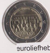 "Malta      2 Euro Commemorative  2012    ""Majority Representation –1887"""