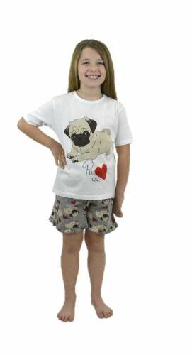 Ragazze Bambini Pigiama Pjs Gatto Cane REGALO Nightwear pigiameria