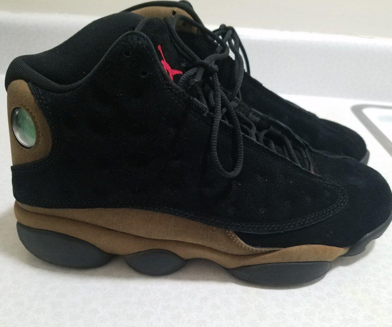 Nike Air Jordan 13 XIII Retro Nero Red Olive Size 10 414571-006