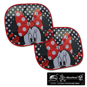 New Disney Minnie Mouse Sun Shade Block Shield Visor 2pcs Car ... 13e75801c38