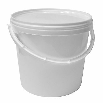 10x 5 L Plastic bucket with lid, handle, water, paint, food (10x22052)