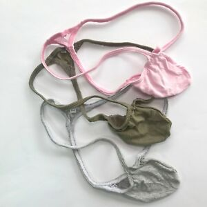 K403-C-Contoured-Pouch-String-Thong-Grape-Smugglers-Soft-Fine-Cotton-colors