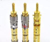 20 Nakamichi Speaker Amp Lock In Banana Plugs Audio Adapter Top 10mm Usa N0575