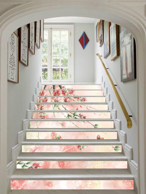 3D Fleur Rose 653 contremarches Décoration Photo Murale Autocollant Vinyle Papier Peint US