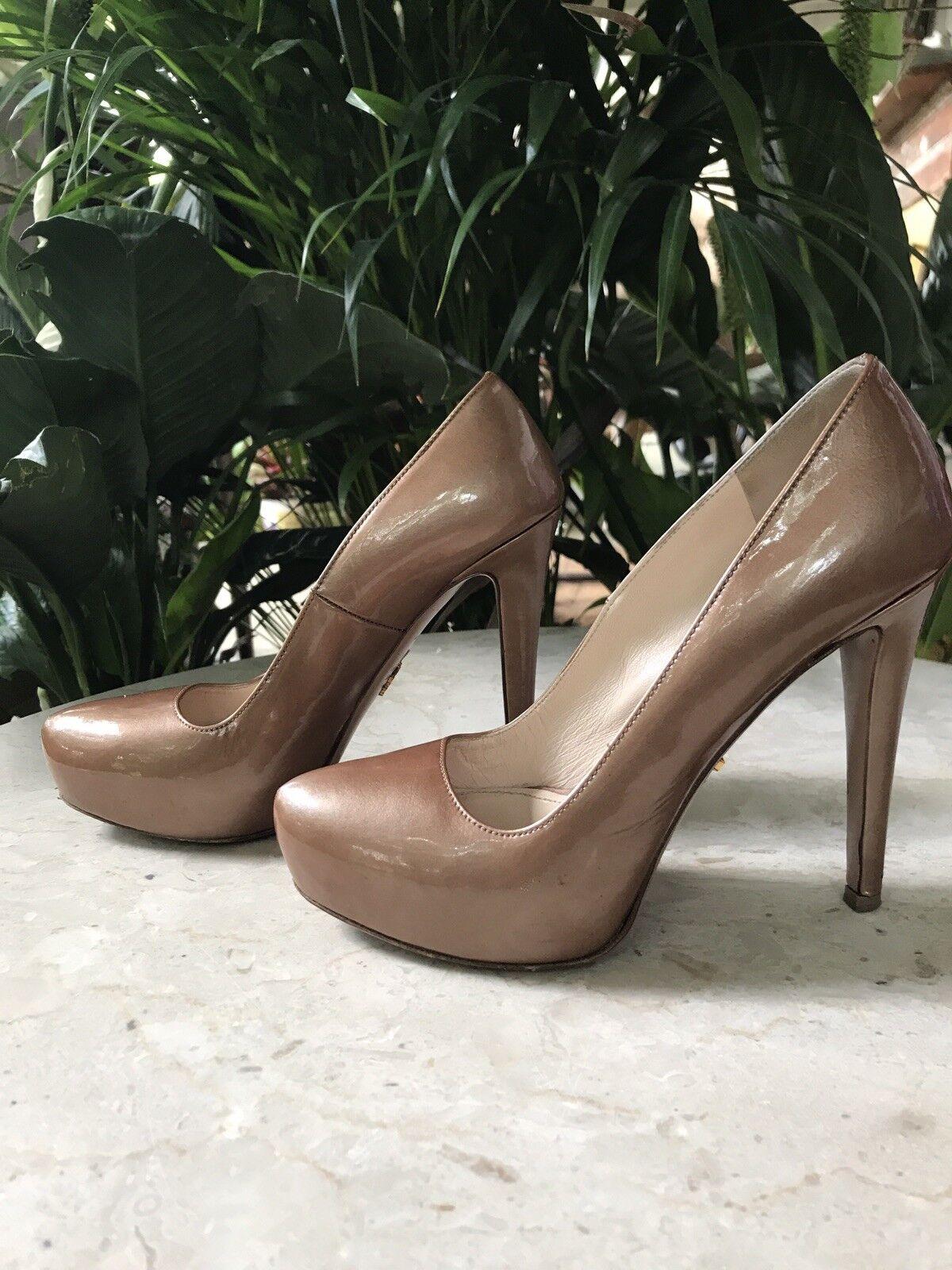Mr/Ms Prada Metalic Bronze Patent Leather 6