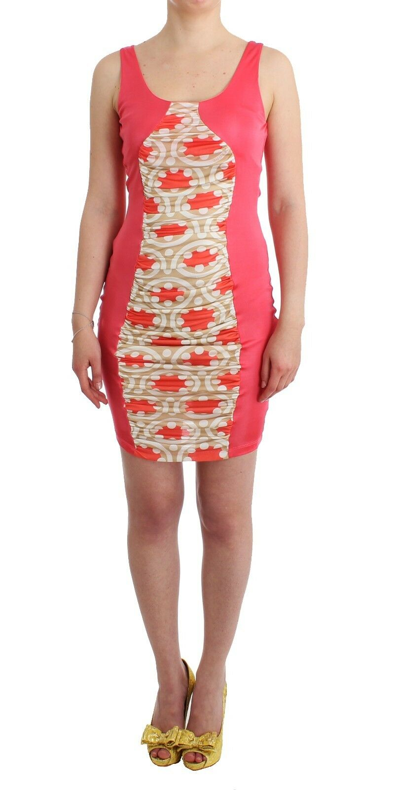 NEW  GF Gianfranco Ferre Dress Short Mini MultiFarbe Rosa Bodycon IT42   US8