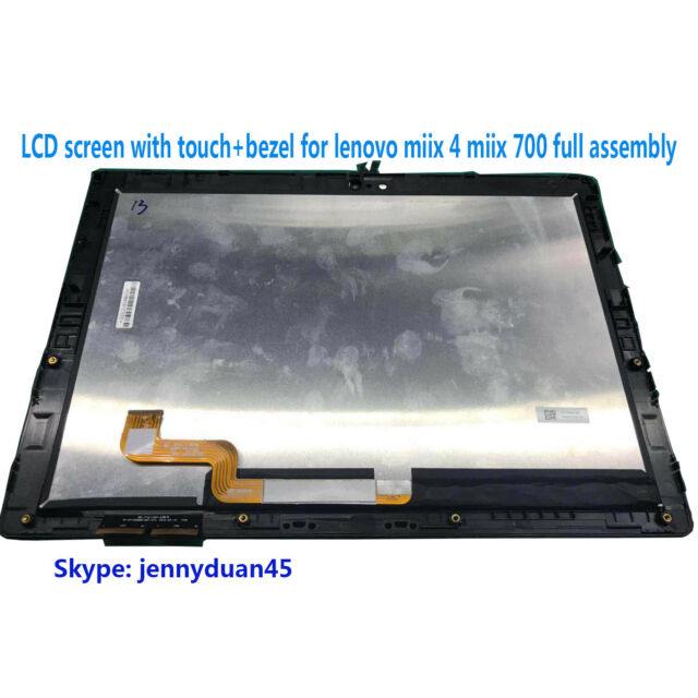 """miix4 12/""""Touch Screen Digitizer Glass Front Panel for Lenovo miix 700-12ISK"""