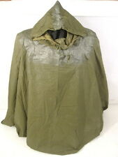 Vietnam US Army Lightweight OD Green Nylon Poncho - Dated 1972 - MINT Unissued