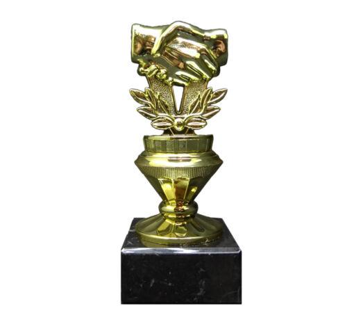 . mit Wunschgravur Freundschafts-Pokal Hände GOBI