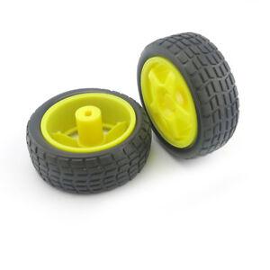 2pcs-Yellow-65mm-Smart-Car-Model-Tire-Wheel-Robot-Partie-DIY-Toy-RC-TT-Motor-CH