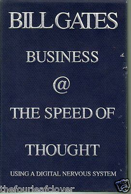 Bill Gates Bussiness At the Speed of Thought Digital Nervous System 1999 1ed