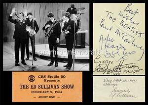 THE-BEATLES-JOHN-LENNON-PAUL-McCARTNEY-HARRISON-ED-SULLIVAN-SIGNED-PRINTED